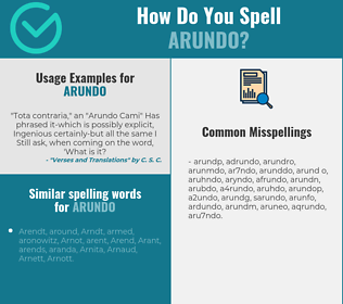 Correct spelling for arundo