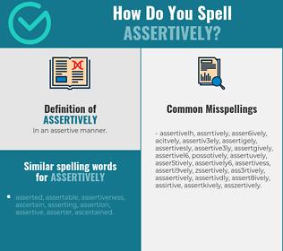 Correct spelling for assertively
