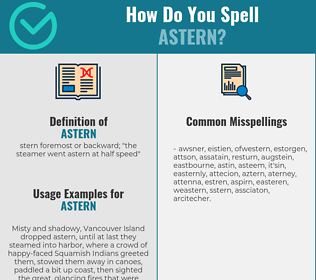 Correct spelling for astern