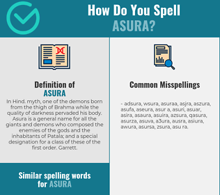 Correct spelling for asura