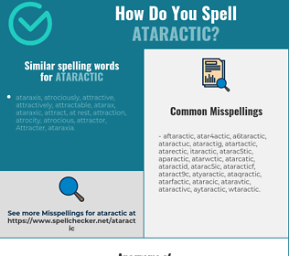 Correct spelling for ataractic