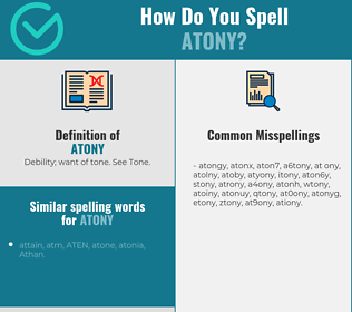 Correct spelling for atony