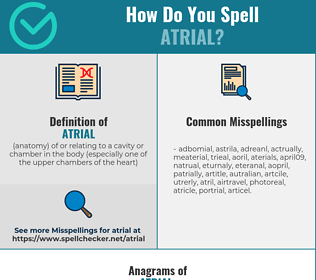 Correct spelling for atrial