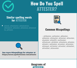 Correct spelling for attester