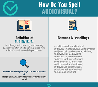 Correct spelling for audiovisual