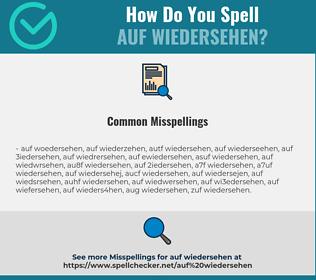 Correct spelling for Auf Wiedersehen