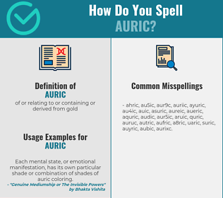 Correct spelling for auric