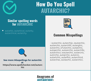 Correct spelling for autarchic