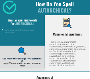 Correct spelling for autarchical