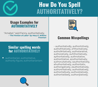 Correct spelling for authoritatively