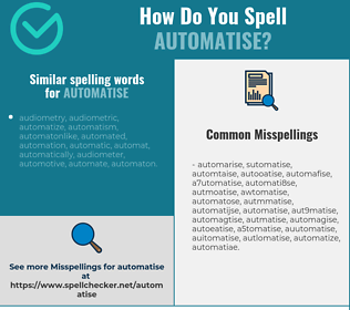 Correct spelling for automatise