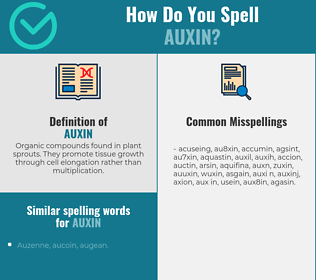 Correct spelling for auxin