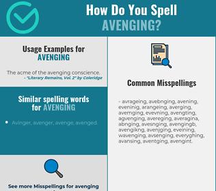 Correct spelling for avenging