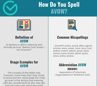 Correct spelling for avow