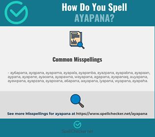 Correct spelling for ayapana