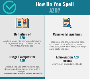 Correct spelling for azo