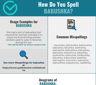 Correct spelling for babushka