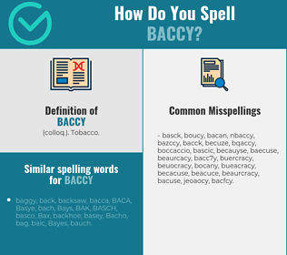 Correct spelling for baccy