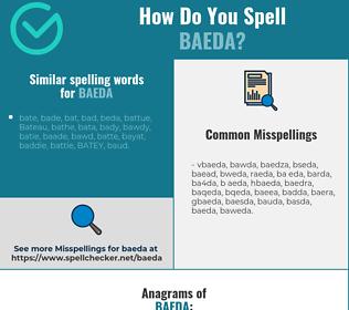 Correct spelling for baeda
