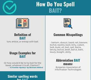 Correct spelling for bait
