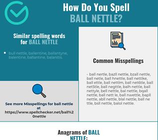 Correct spelling for ball nettle