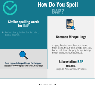 Correct spelling for bap