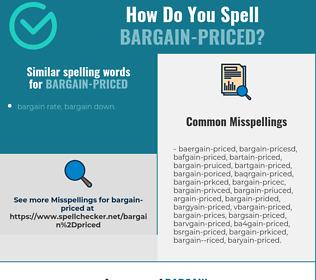 Correct spelling for bargain-priced