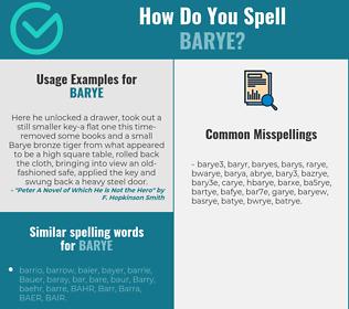 Correct spelling for barye