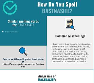Correct spelling for bastnasite