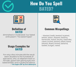 Correct spelling for bated