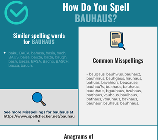 Correct spelling for bauhaus