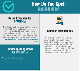 Correct spelling for bauhinia