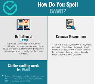 Correct spelling for bawd