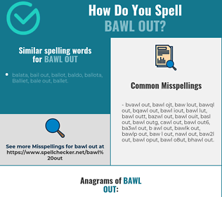 Correct spelling for bawl out