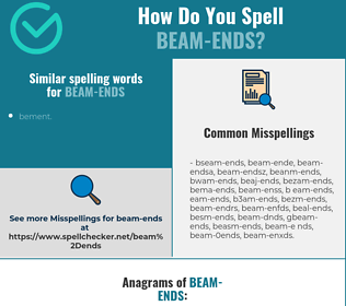 Correct spelling for beam-ends