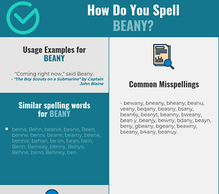 Correct spelling for beany