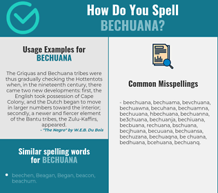 Correct spelling for bechuana