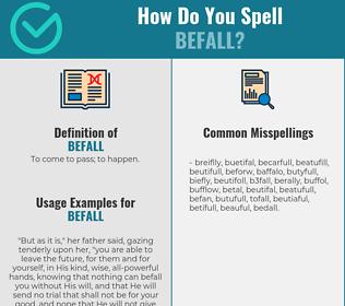 Correct spelling for befall