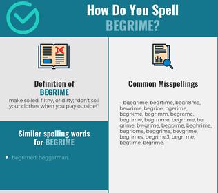 Correct spelling for begrime