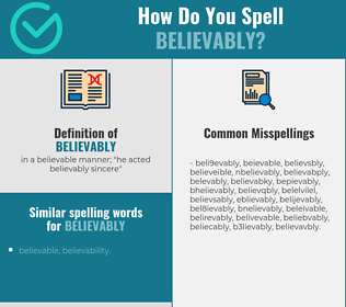Correct spelling for believably