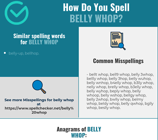 Correct spelling for belly whop