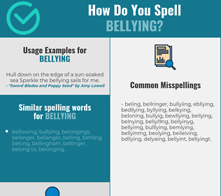 Correct spelling for bellying