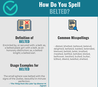 Correct spelling for belted