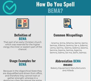 Correct spelling for bema