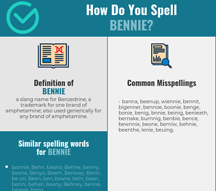 Correct spelling for bennie