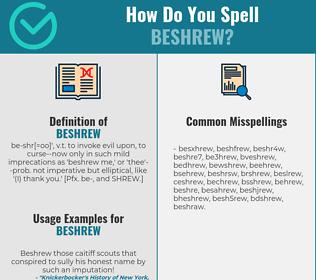 Correct spelling for beshrew