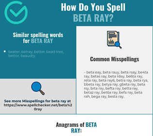 Correct spelling for beta ray