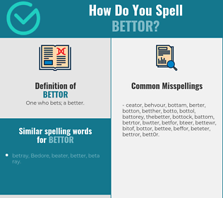 Correct spelling for bettor