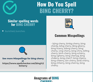Correct spelling for Bing Cherry