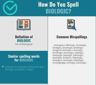 Correct spelling for biologic